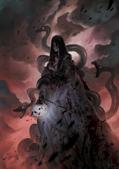 Izanami- In Japanese Mythology she is the goddess of both creation and death-by Apinyo Yuwasilp