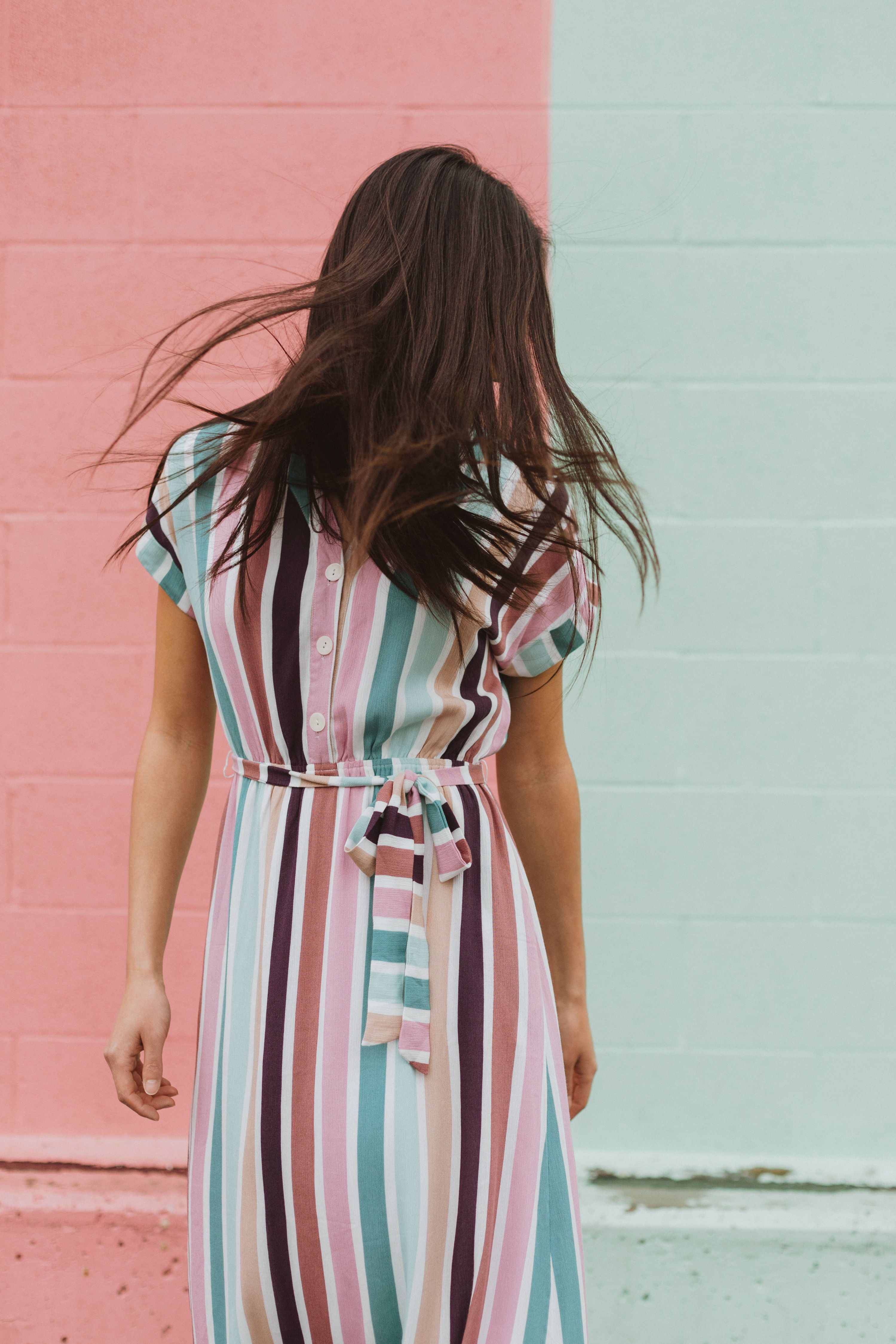 The Cha Cha Striped Maxi Dress Is As If All Your Favorite Things Came Together As A Dress It Is Nursing Friendl Clothes For Women Dresses Contemporary Outfits [ 4500 x 3000 Pixel ]