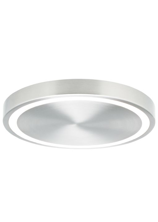 Minimalist design and elegant engineering combine in the powerful crest 12 led ceiling light from lbl lighting a thin ring of light around the perimeter of