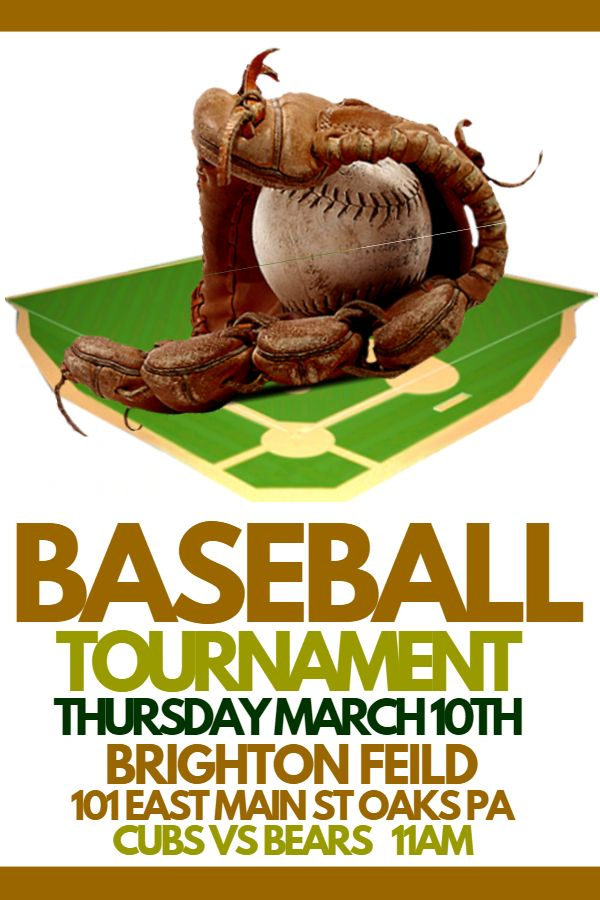 Baseball Tournament Poster Template Click to customize - baseball flyer