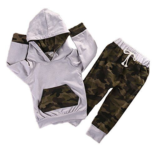 969236a71 baby clothing | Newborn Infant Baby Boy Girls Camouflage Clothes Hooded T-shirt  Tops Pants