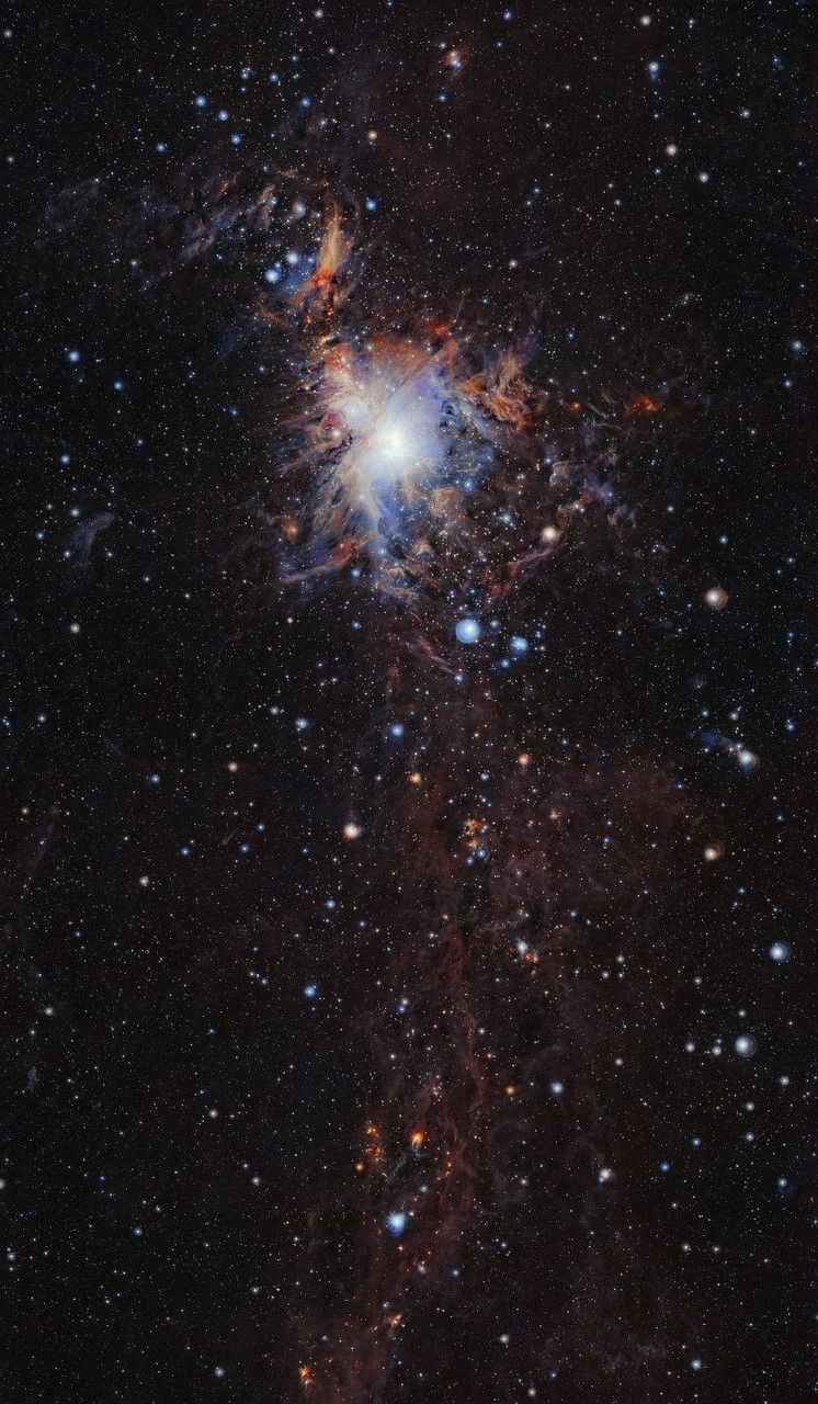 The Orion A molecular cloud from VISTA This image from the VISTA infrared survey telescope at ESO's Paranal Observatory in northern Chile is part of the largest infrared high-resolution mosaic of Orion ever created. It covers the Orion A molecular...