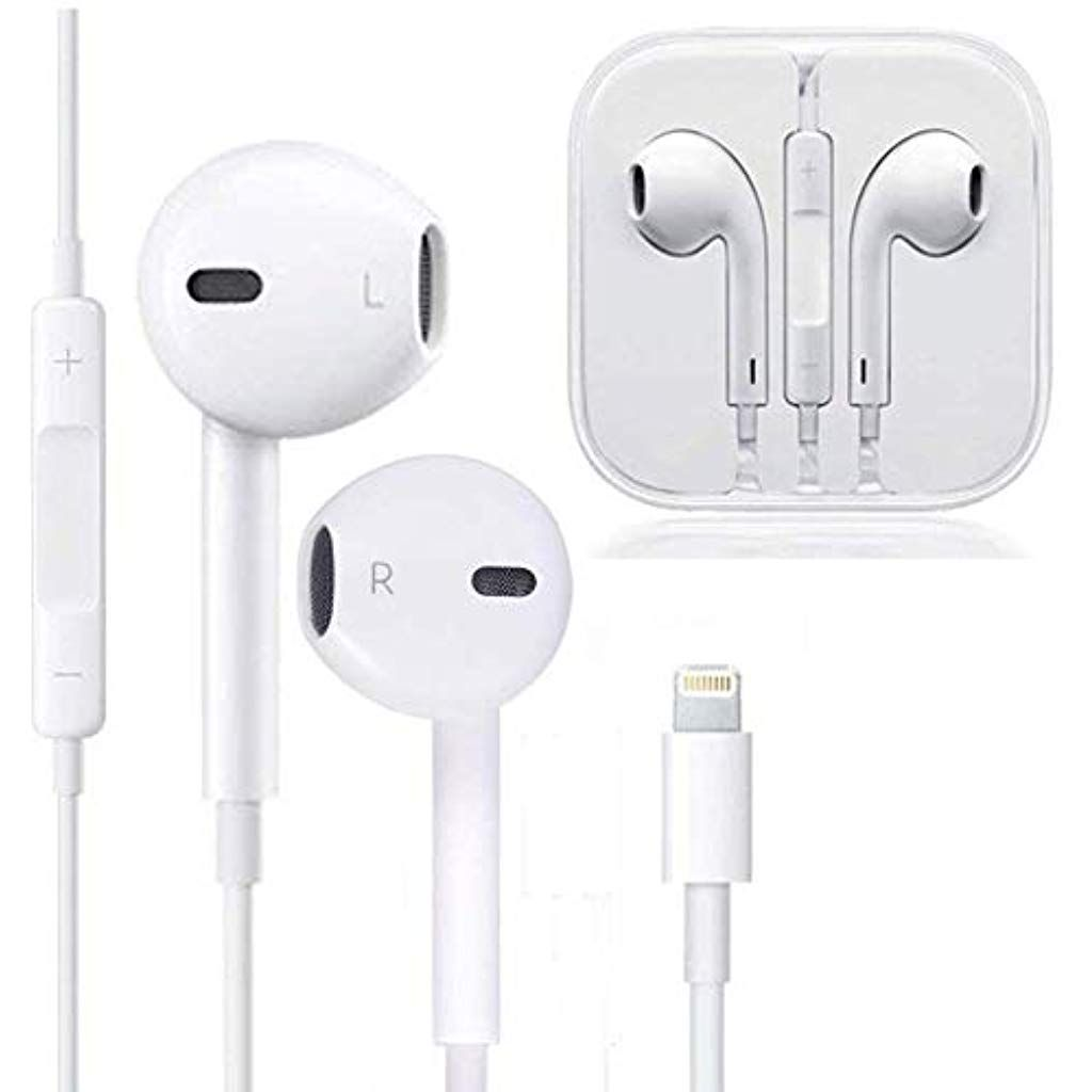 Earbuds Microphone Earphones Stereo Headphones Noise Isolating Headset Fit Compatible With Iphone Xs Xr Xs Max Iph Apple Headphone Iphone Headphones Headphones