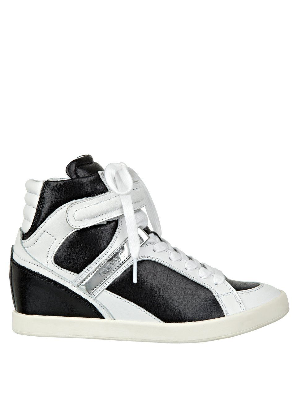 GUESS Perina Wedge Sneakers, BLACK MULTI LEATHER (7 1/2)