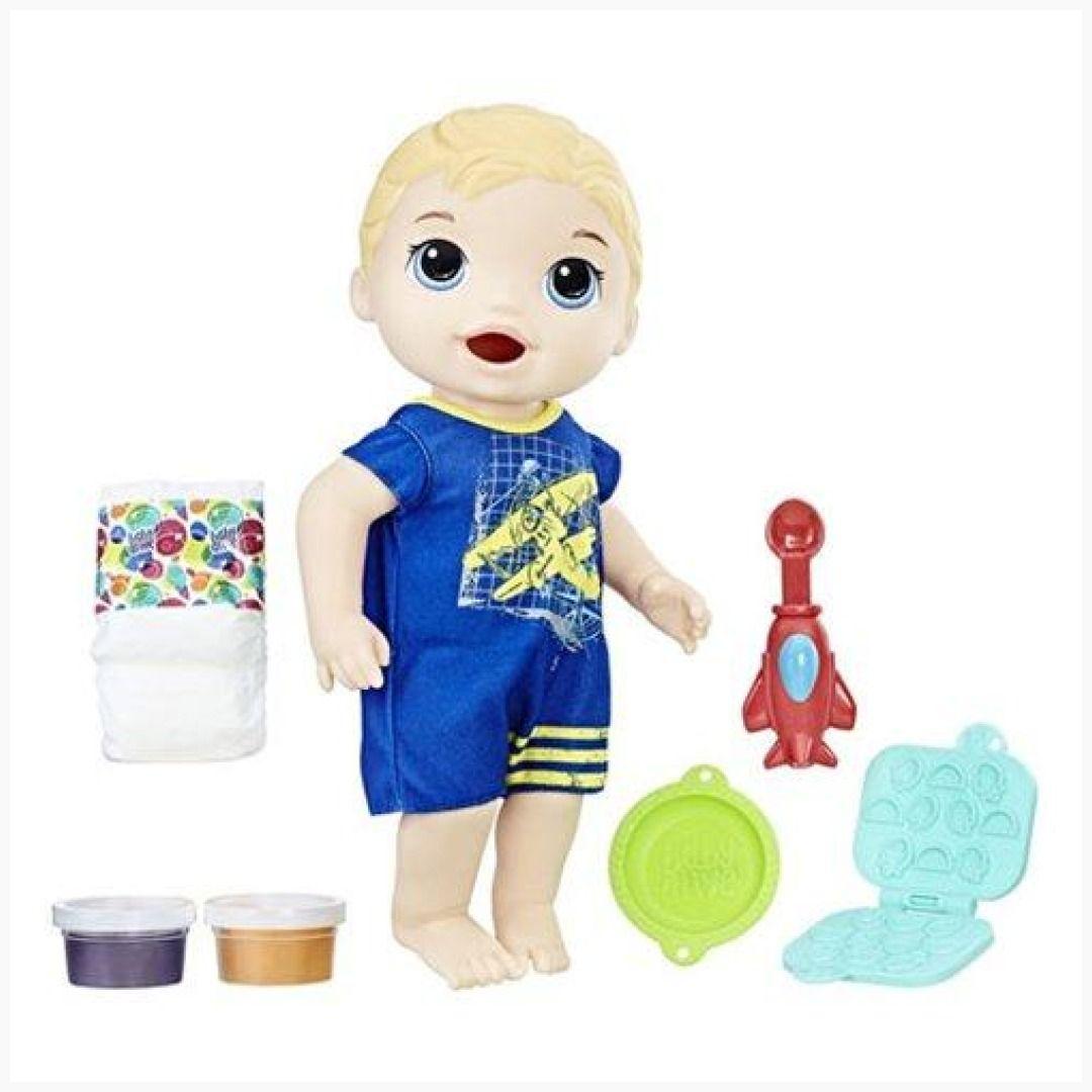 Baby Alive Super Snacks Snackin Luke Blonde Doll Baby Alive Food Baby Dolls Baby Doll Accessories