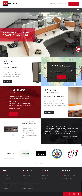 Custom Website Design For Cube Solutions Design And Development By Modassic Marketing Custom Wordpress Site I Great Website Design Web Design Tips Web Design