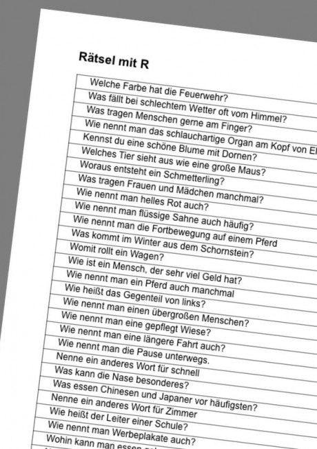 Rätsel Mit R Artikulation Hallo Kinder Wir Lernen Deutsch