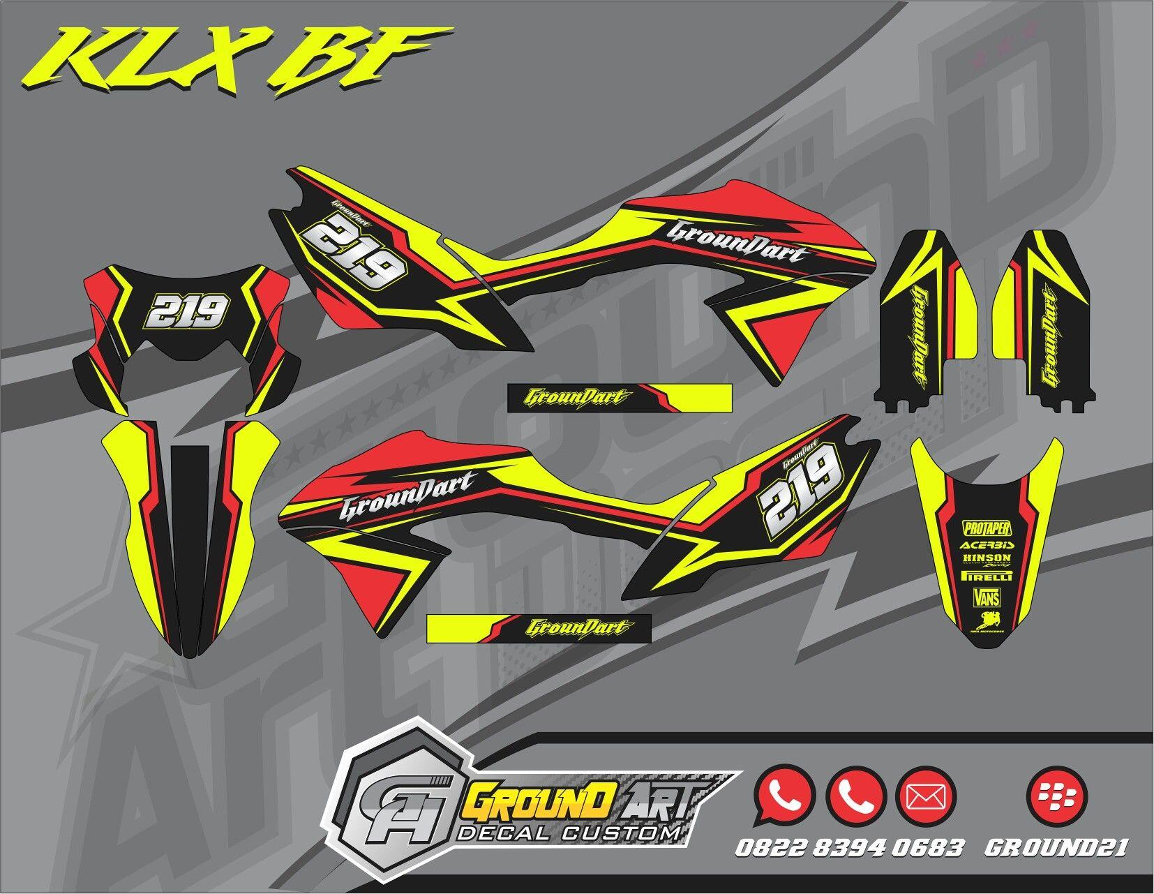 Decal kit klx 150 bf