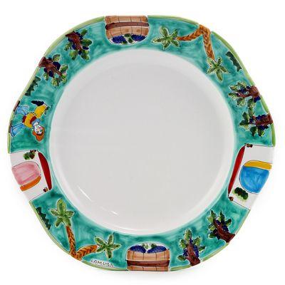 Introducing LA MUSA Dinnerware - Artistica\u0027s World Wide Exclusive! Ceramics La Musa the bright sunny colors of Sicily!  sc 1 st  Pinterest & LA MUSA - Hexagonal Serving Charger \u0027Sicilian Grape Harvest\u0027 16 ...