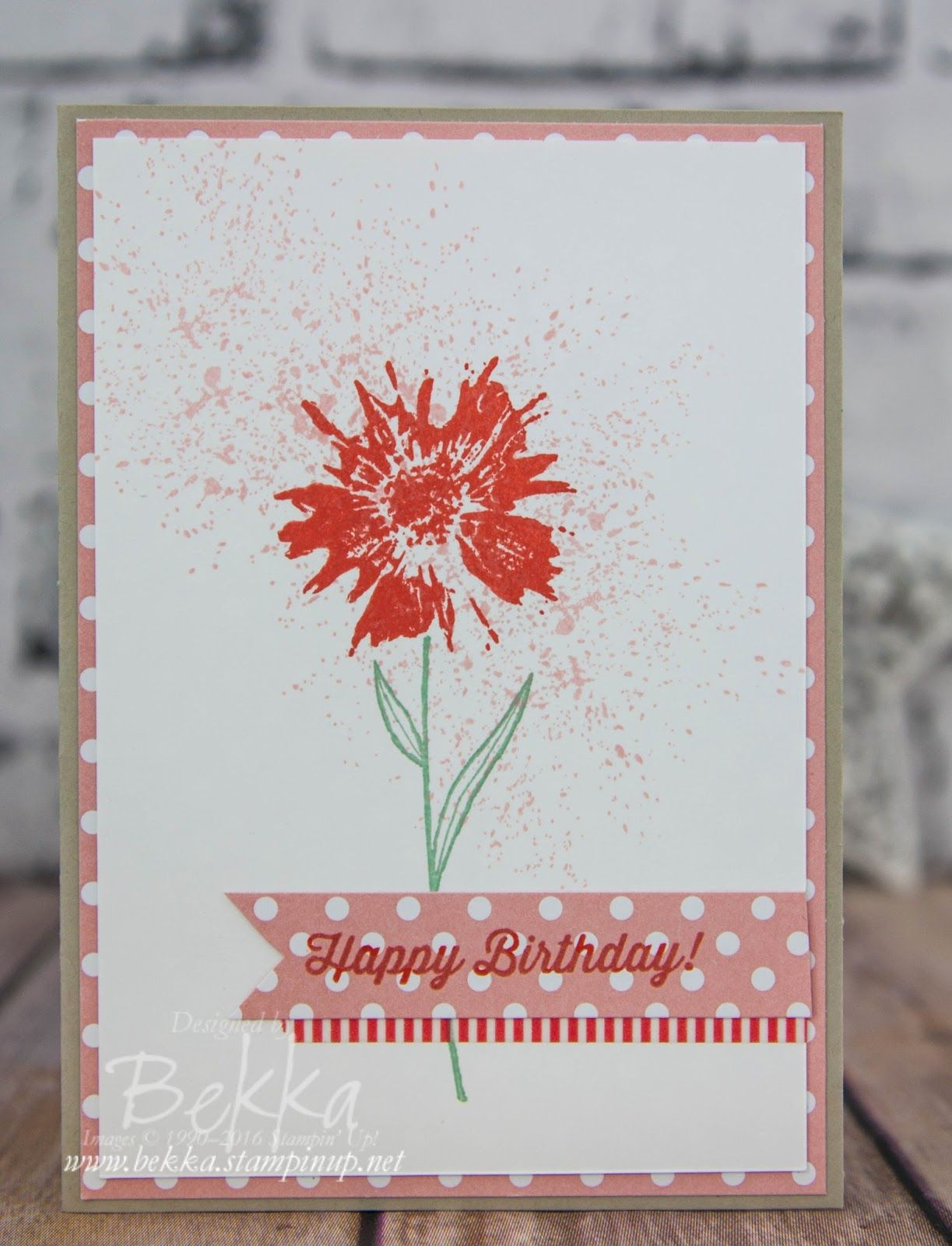 Pretty Floral Birthday Card Made With Touches Of Texture Stamp Set From Stampin Up UK