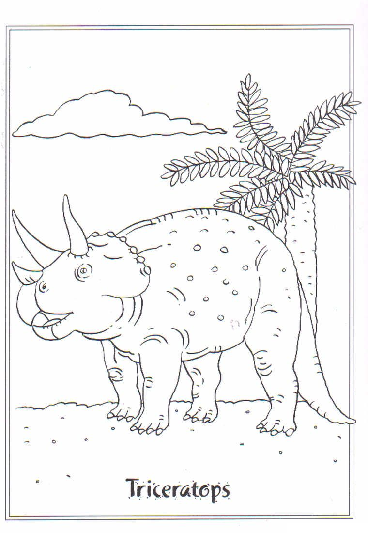 coloring page dinosaurs 2 triceratops con immagini