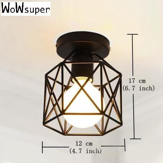 Lampe Plafonnier Applique de Lumi¨re industrielle créative moderne