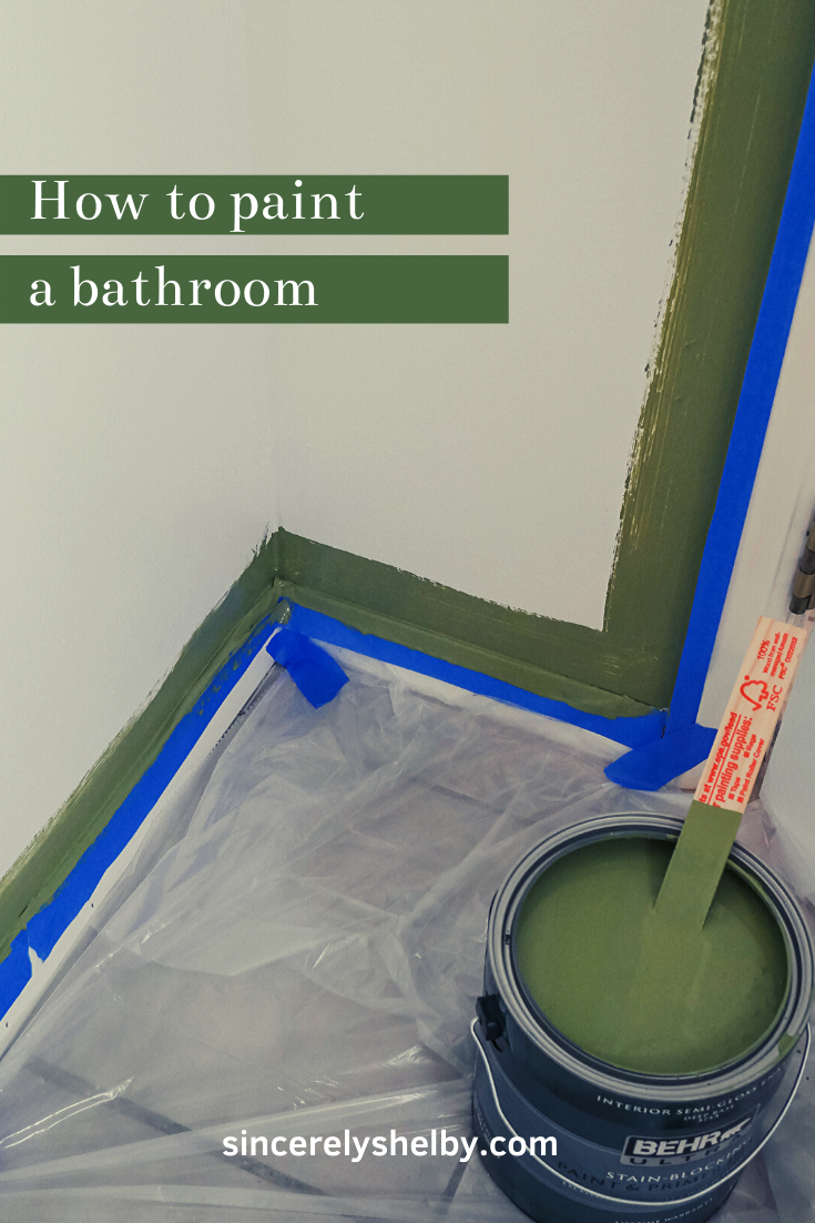 We decided to start tackling the bathroom! We painted the bathroom and noted some tips for a better result. #diy #painting #paintingabathroom #bathroom #remodel #bathroomupgrade #diyblog #howtopaint #howtoblog #protips #bathroomremodel #paintingaroom #homeupgrades #weekendproject
