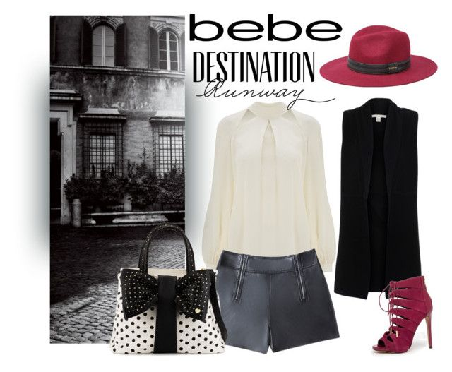 """""""Destination Runway with bebe : Contest Entry"""" by lorafdz ❤ liked on Polyvore featuring Bebe, Temperley London, Belford, Betsey Johnson and beiconic"""
