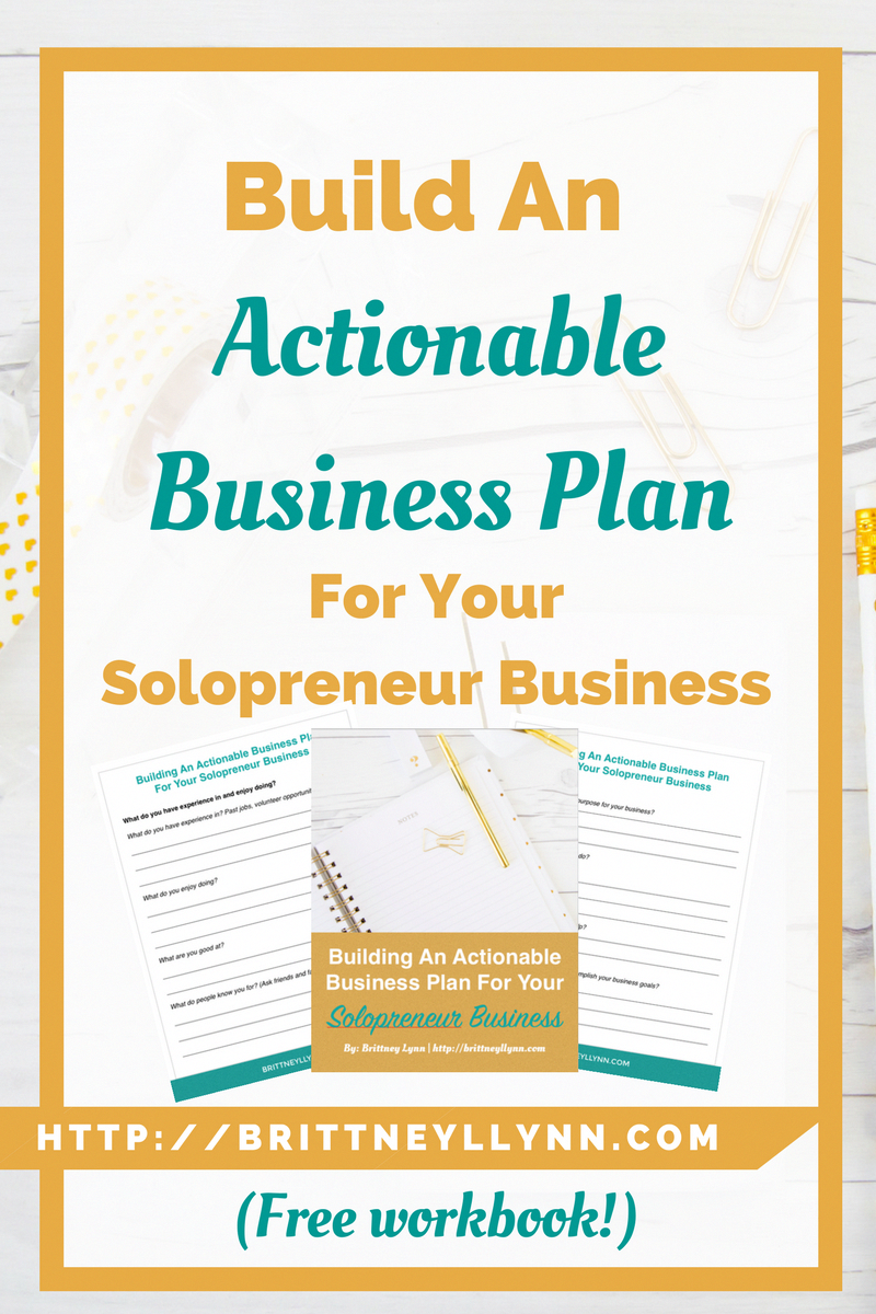 build an actionable business plan for your solopreneur business