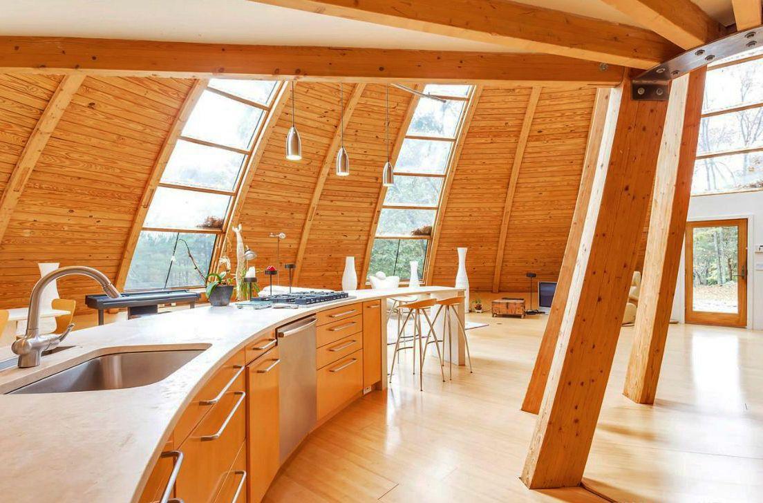 Perfect Moderne Küche Mit Gerundetem Kochinsel