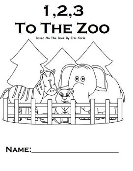 123 To The Zoo Printable Book WH questions Touch Math
