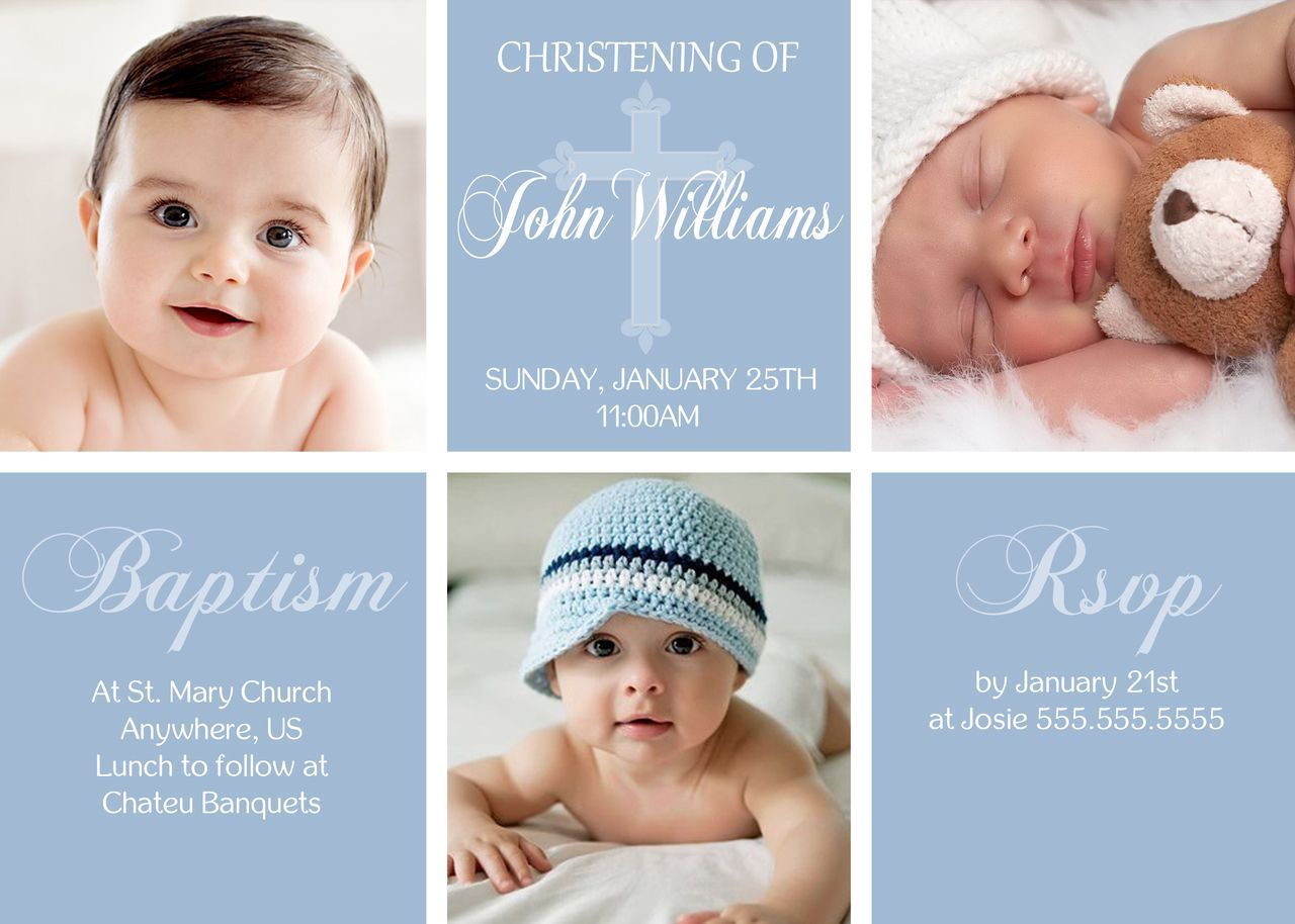 1st birthday and baptism invitation wording – 1st Birthday and Baptism Invitations