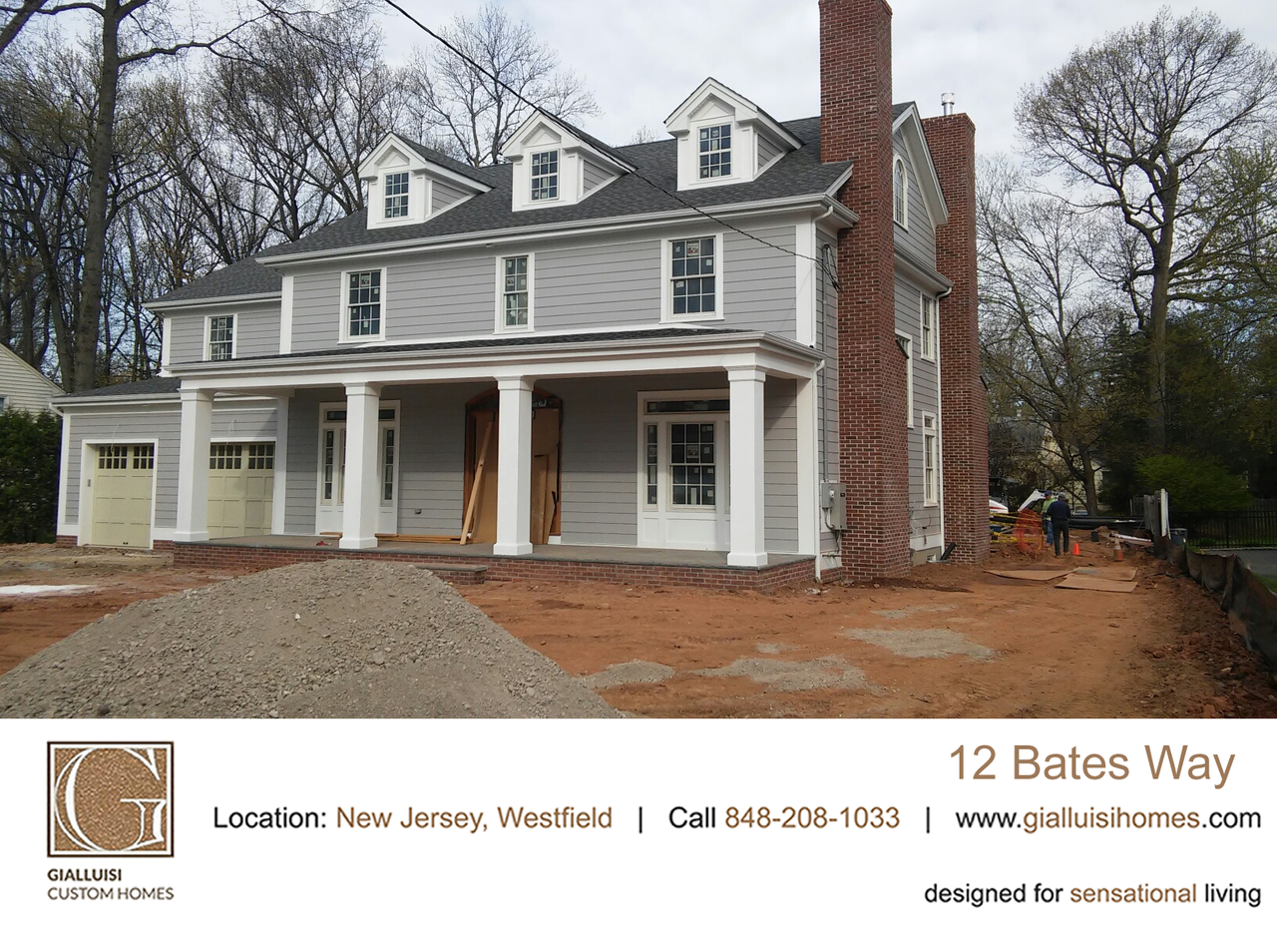 Stunning #colonial project almost complete; exterior landscaping + built-in pool being worked on as we type www.gialluisihomes.com