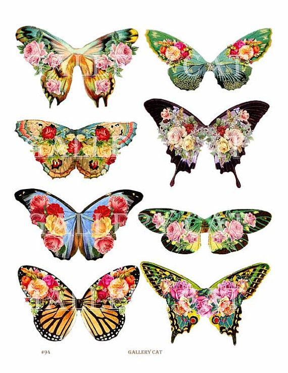 FAIRY WINGS Digital Collage Sheet Download and Print Paper Crafts ...