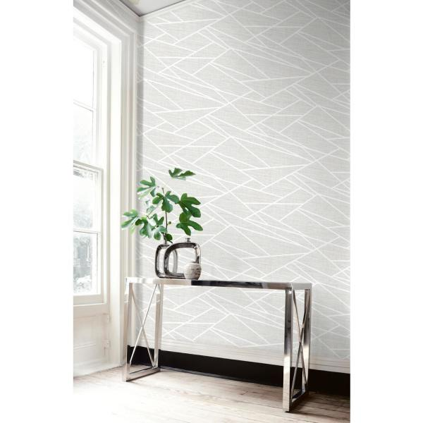 Seabrook Designs Cecita Puzzle Light Grey, Silver, and White Geometric Wallpaper LG90101 - The Home Depot#cecita #depot #designs #geometric #grey #home #lg90101 #light #puzzle #seabrook #silver #wallpaper #white