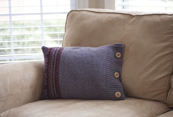 Pillows from old sweaters