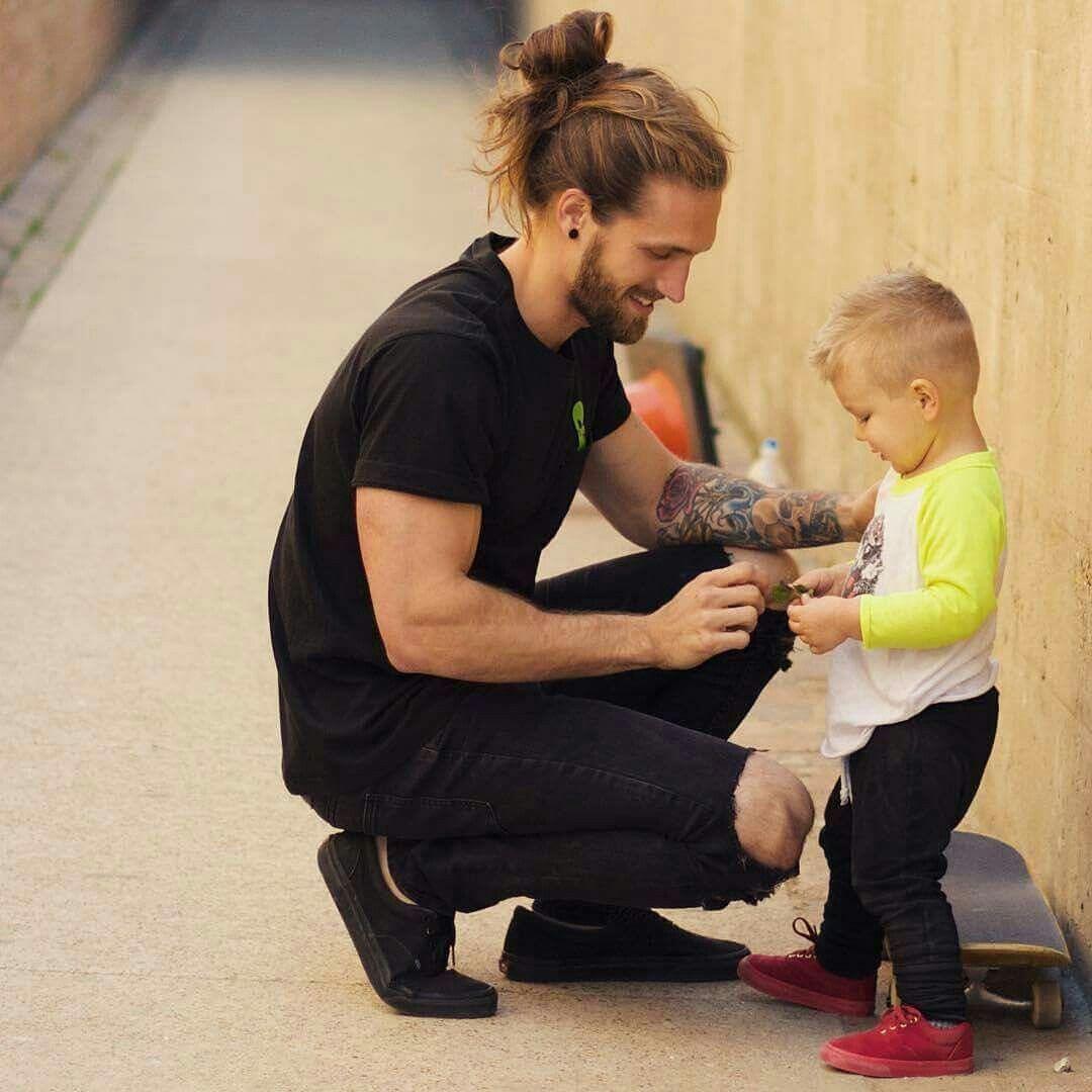 Boy long hairstyles pin by ashley fong on daddy u bb  pinterest