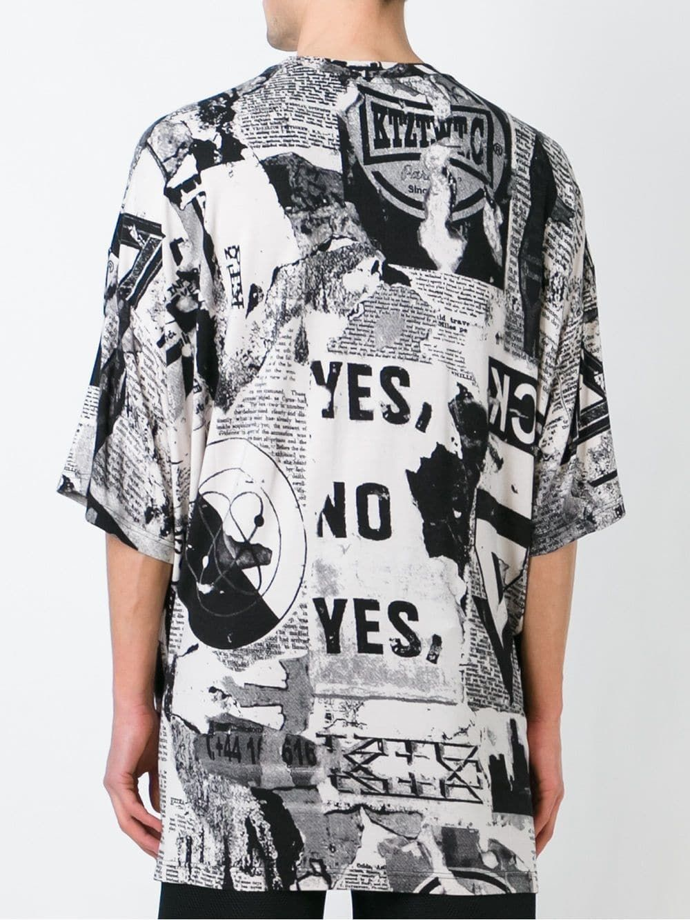 KTZ oversized newspaper print Tshirt Designer clothes