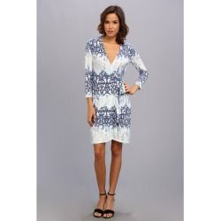 54cfdd30984e0 BCBGMAXAZRIA - Adele Printed Wrap Dress IHP62B68 (Royal Blue Combo) -  Apparel - product - Product Review