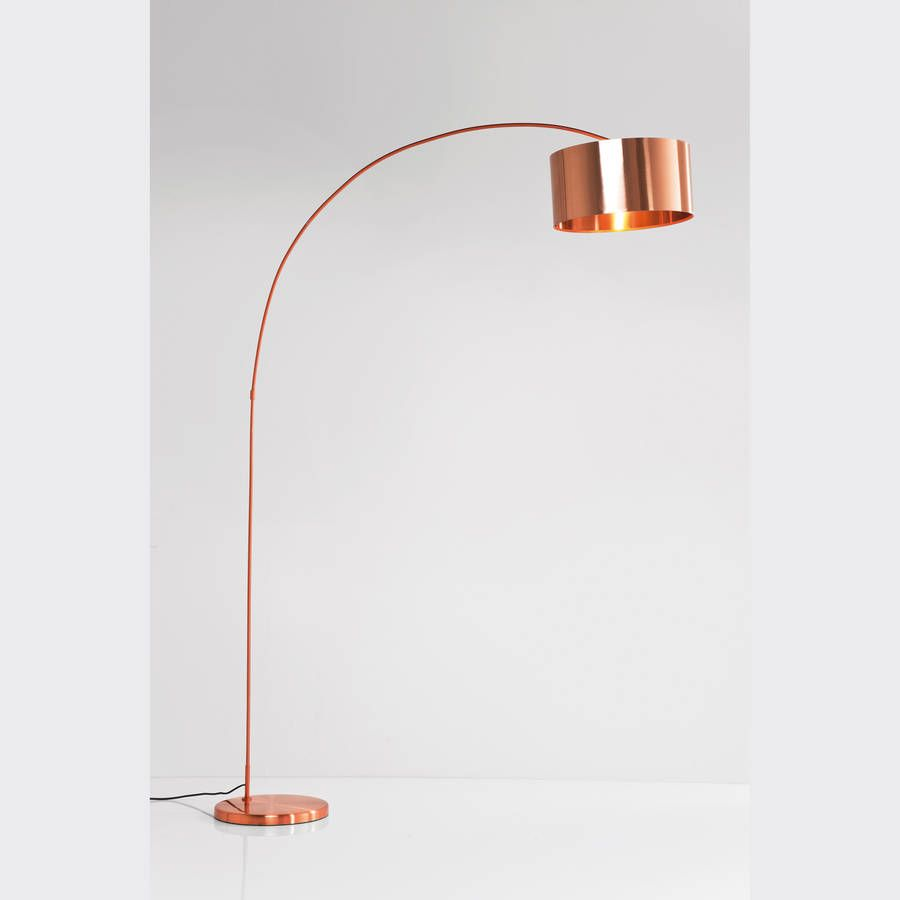 Copper Arc Floor Lamp For The Home Lamps