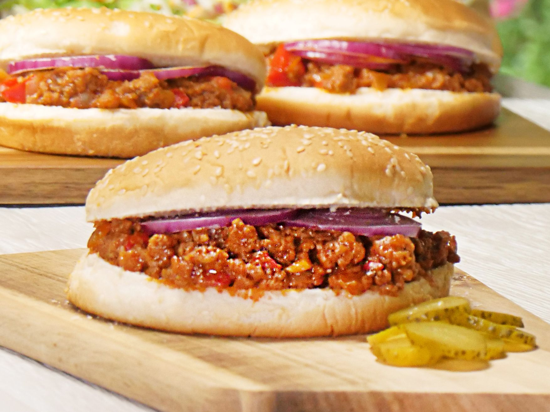 Sloppy Joe - Rezept für den amerikanischen Hack-Burger   Pinterest ...