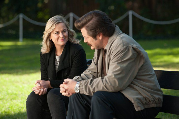 Pin for Later: It Looks Like There Will Be Lots of Emotional Moments on the Parks and Rec Finale  Leslie and Ron (Nick Offerman) have one more heart-to-heart.