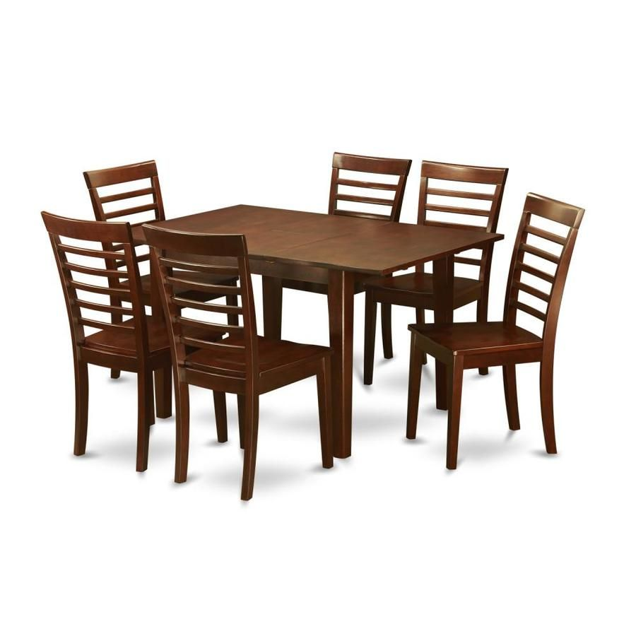 east west furniture picasso mahogany dining set with table