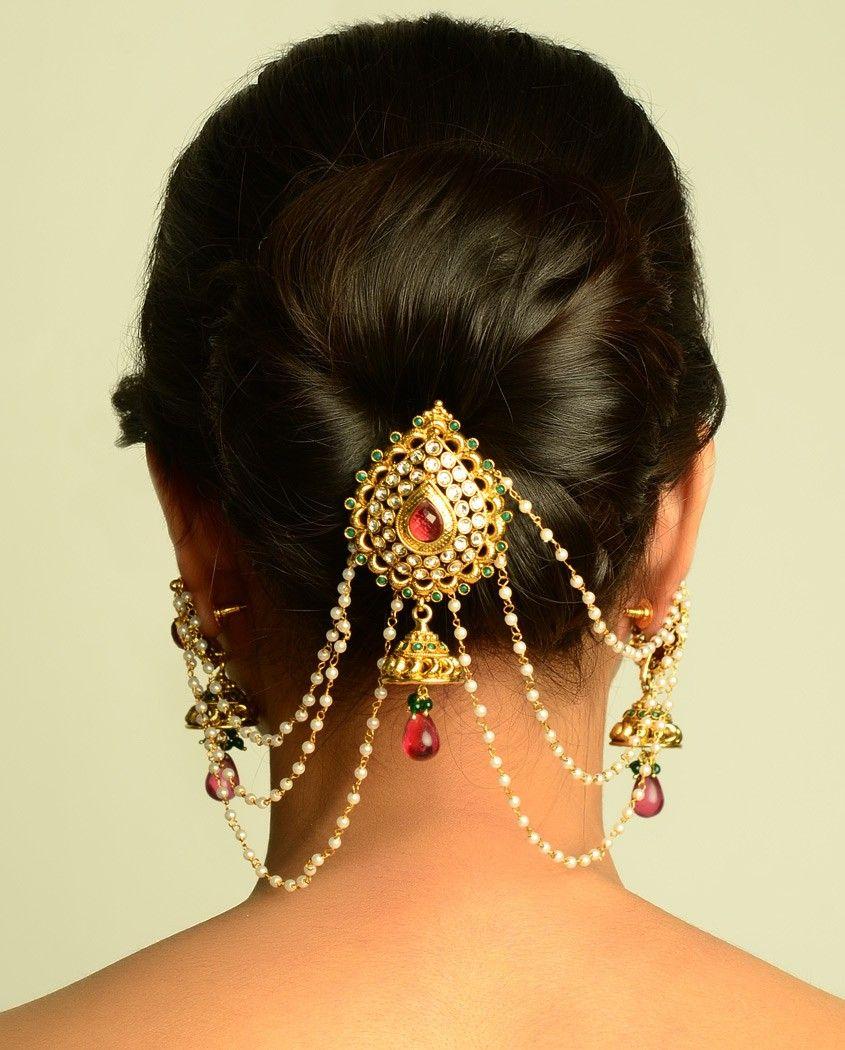 the maharani juda pin and earrings | indian dresses, jewelry