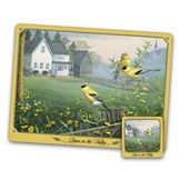 The Songbirds Placemat and Coaster Set - Gold Finch