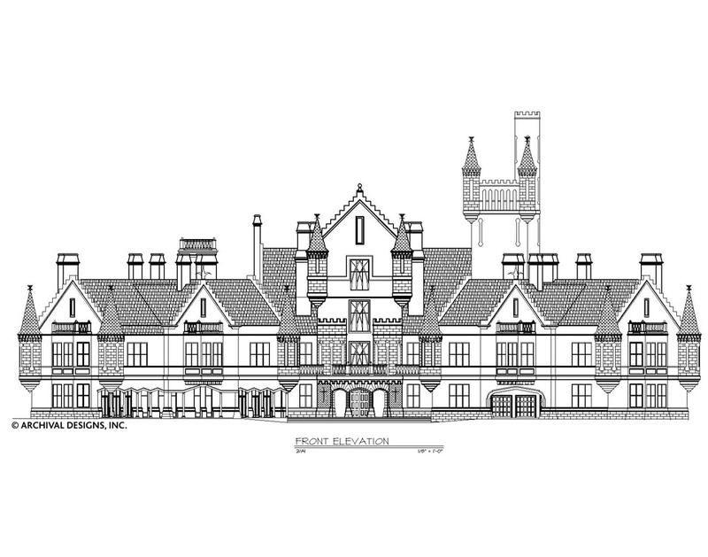 Balmoral House Plan Castle House Plans Balmoral House House Plans