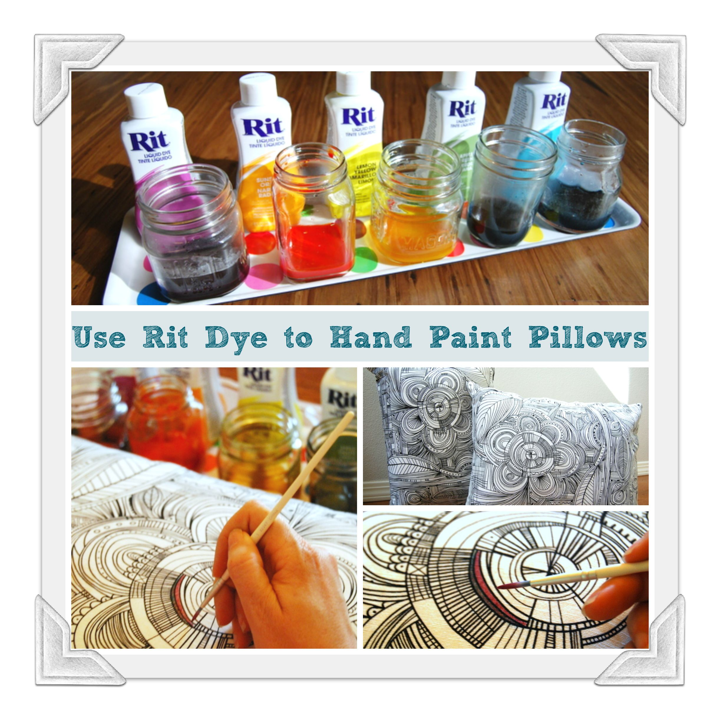 How to hand paint pillows with rit dye home decor rit dye dyeing fabric nvjuhfo Image collections