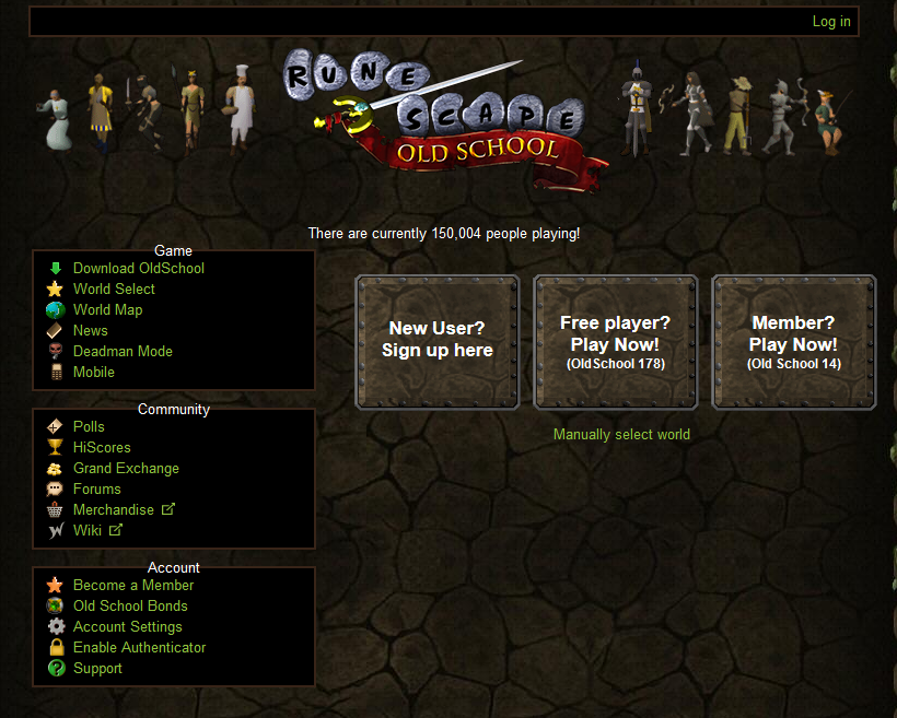 x-post from 2007scape) 150k players peak on Oldschool Runescape #mmo ...