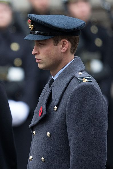 Prince William attends the annual Remembrance Sunday Service at the Cenotaph on Whitehall on November 8, 2015..