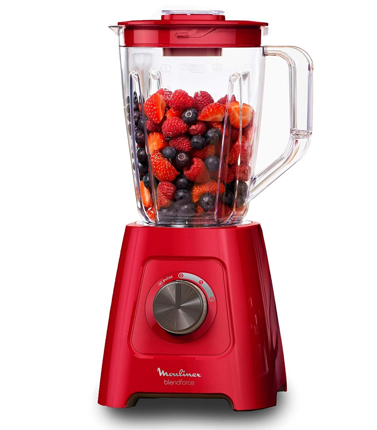 Moulinex Lm420510 Blender Mixeur Electrique Blendforce Capacite 2l Smoothie Soupe Fruits Legumes Glace Pilee 600w Rouge Amazon Fr Moulinex Glace Pilee Mixeur