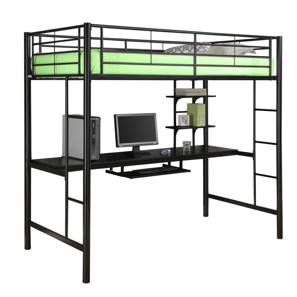 Metal loft bed ideas  Metal Twin Loft Bed with Workstation Image  Home Decor  Pinterest