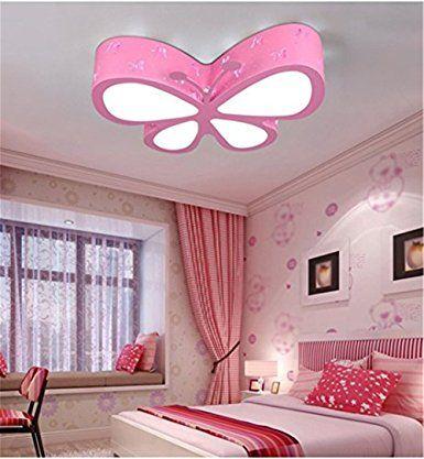 Malovecf Kinderzimmer Deckenleuchte Schlafzimmer Lampe LED Kreative  Schmetterling Beleuchtung Kindergarten Mädchen Prinzessin Raum Beleuchtung,  50 U2026