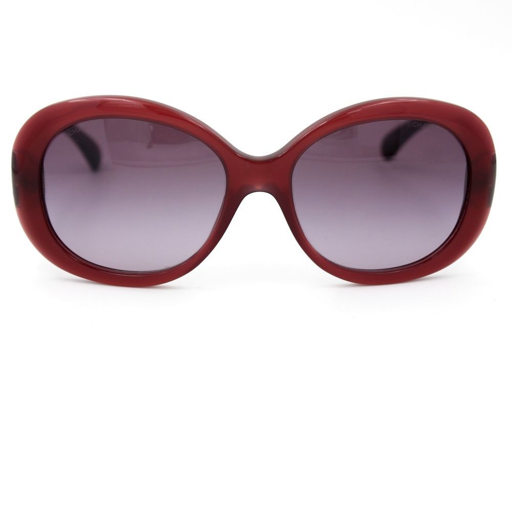 be7fc28428 CHANEL Sunglasses Burgundy Oval Frame with Burgundy Gradient Lenses 5188   CHANEL  Oval