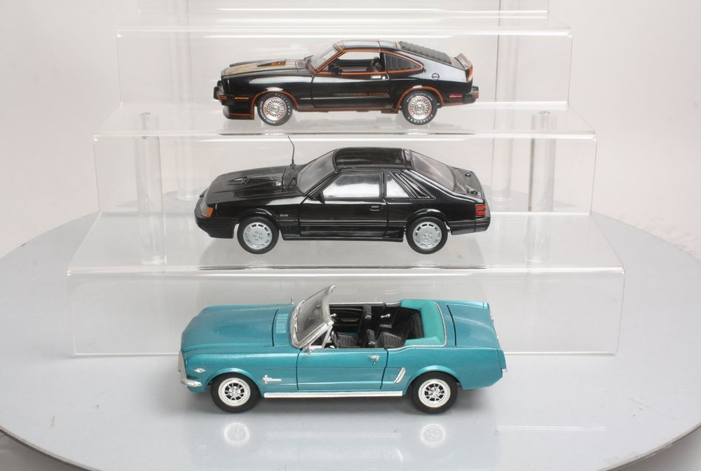 Die Cast 1:18 Scale Ford Mustang Model Cars: 1965, 1978 & 1986 (3)