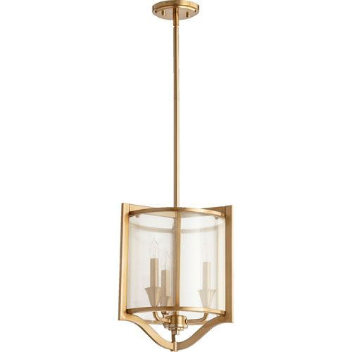 Highline Aged Brass Three-Light Pendant