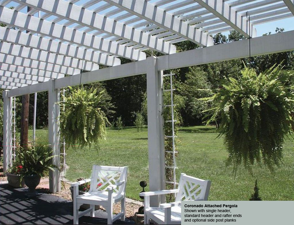 Coronado Attached #Pergola   Strong, Durable And Stylish With Wood Look  Aluminum Beams