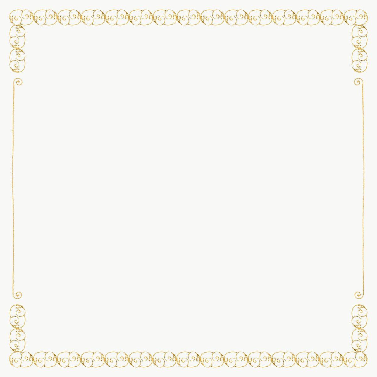 Download Premium Png Of Gold Filigree Frame Border Png 2644986 Gold Filigree Free Illustrations Filigree