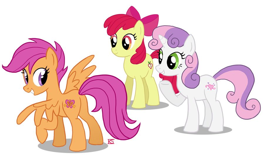 The Cutiemark Crusaders Cutie Marks