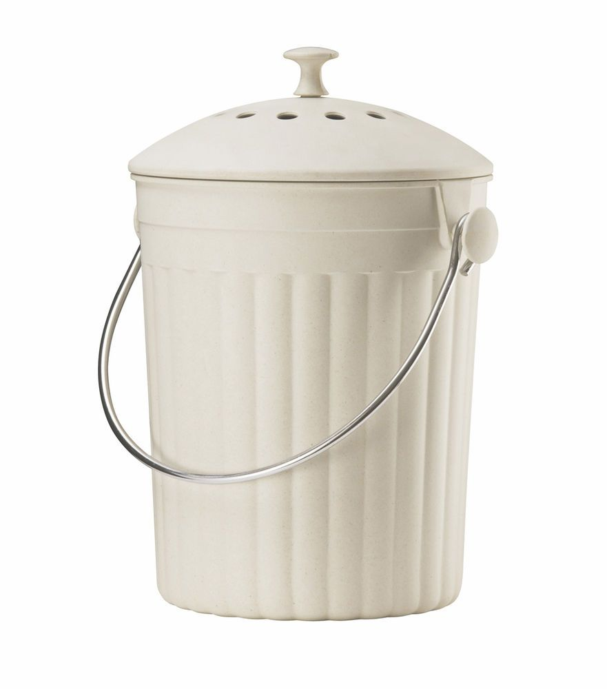 Eddingtons creme Eco Kompost Eimer Abfalleimer Behälter für Drinnen ...