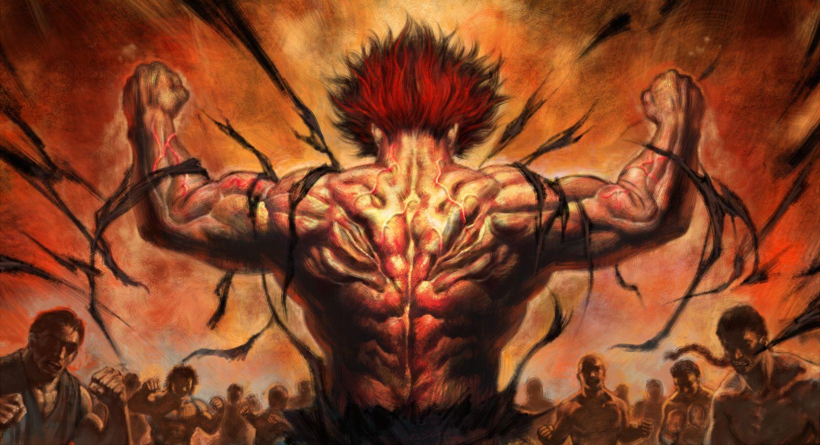 yujiro hanma otherwise known as the fighting god satan cartoons